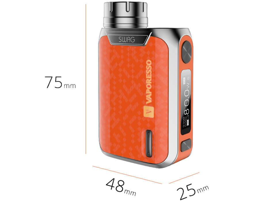vaporesso swag 80w with nrg kit διαστασεις