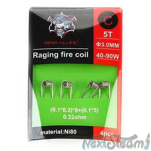 demon killer raging fire coil ni80 c 0.32ohm