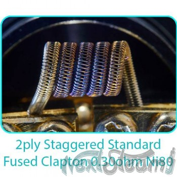 tesla handcrafted coils 2ply staggered standard fused clapton 0.30ohm ni80