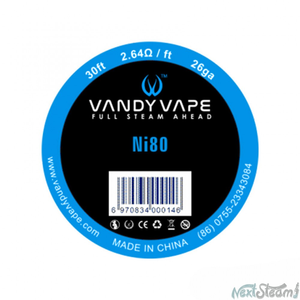 vandy vape pure nickel ni80 26ga