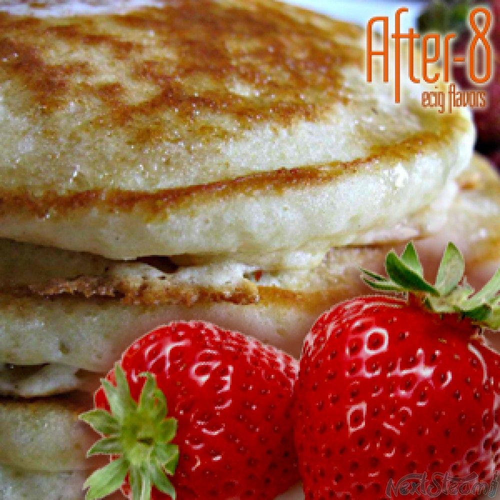 after-8 - creamy strawberry pancakes