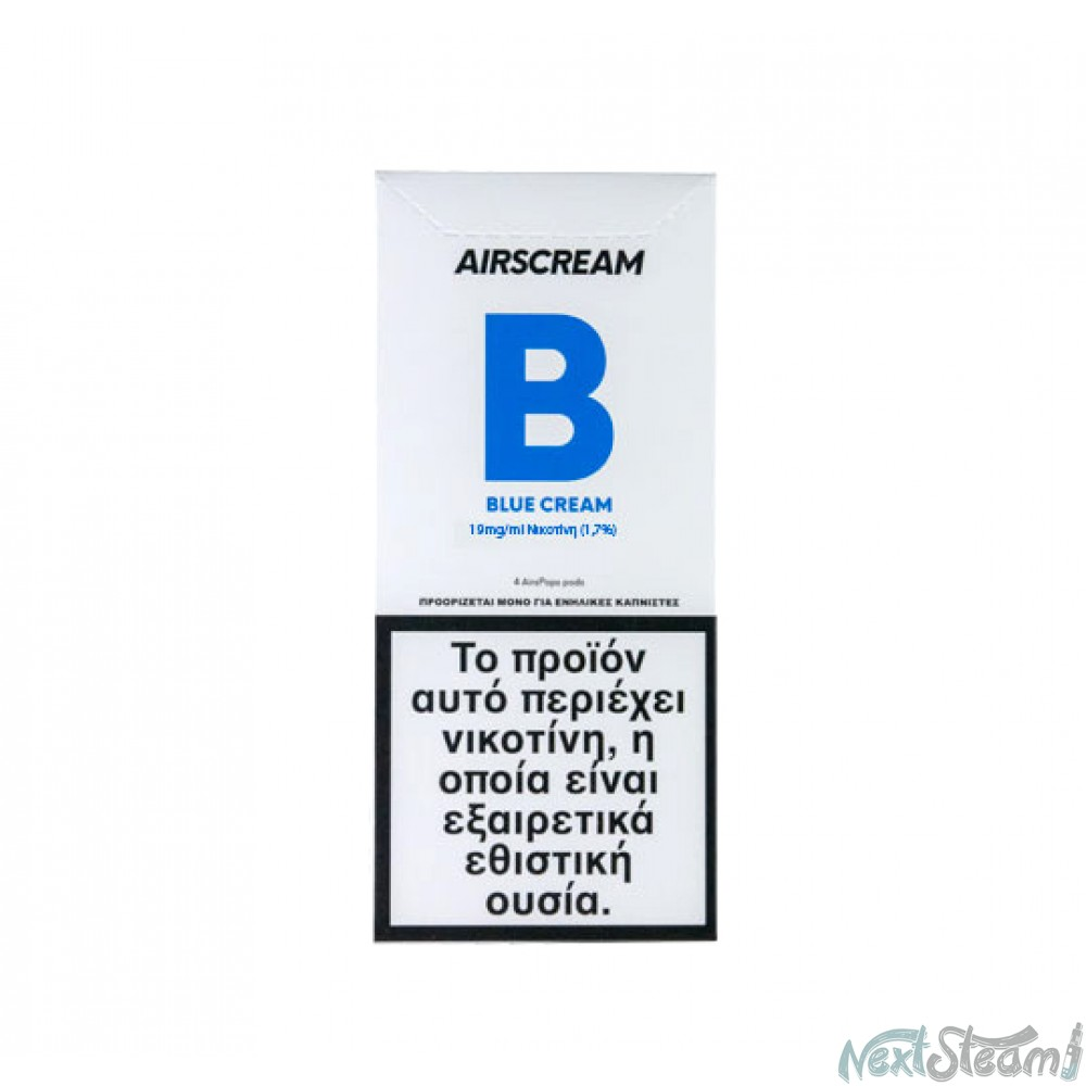 airscream pops - blue cream 4 x 1.2 ml