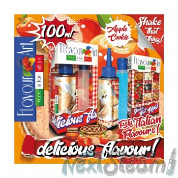 flavourart flavorshots - apple cookie 60/100ml