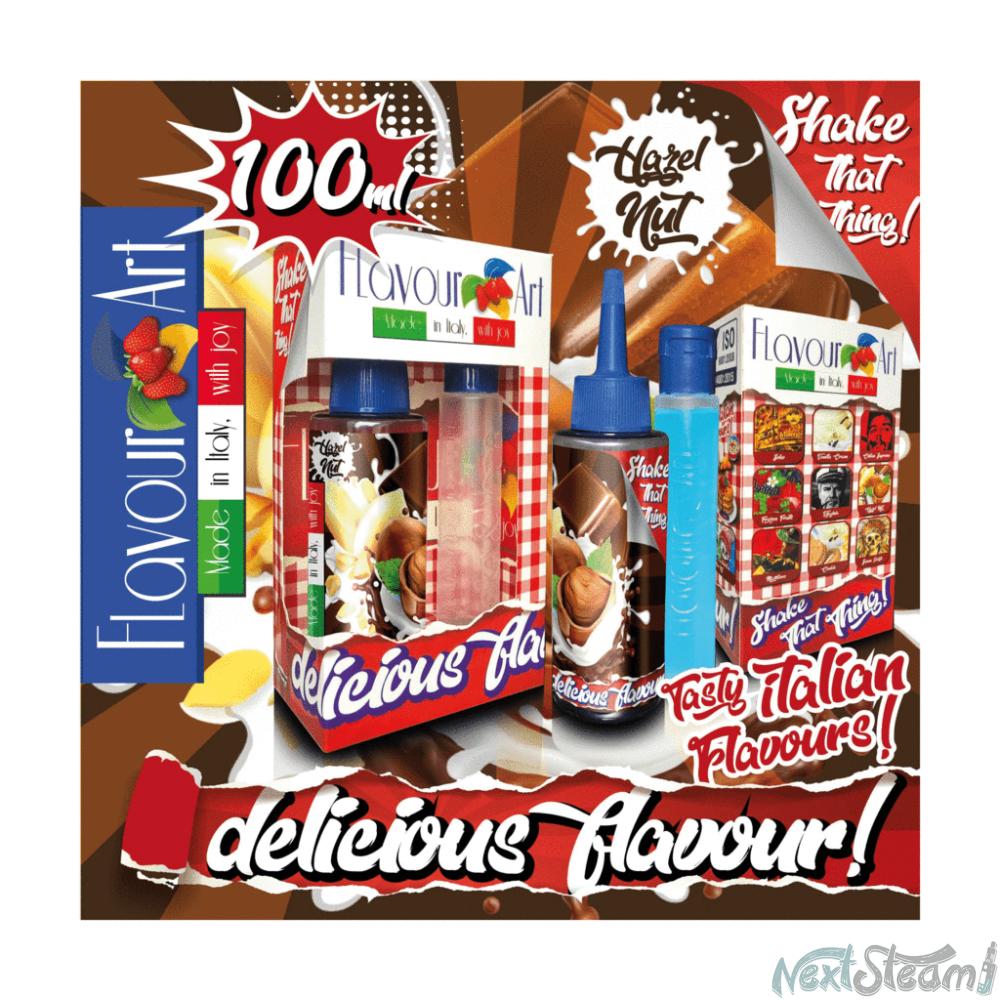 flavourart flavorshots - hazelnut 60/100ml