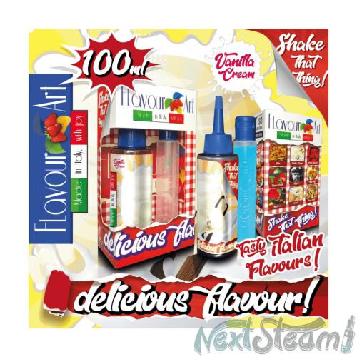 flavourart flavorshots - vanilla cream 60/100ml