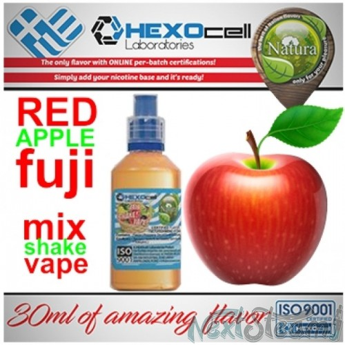 mix shake vape - natura 30/60 ml fuji red apple