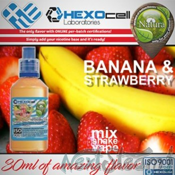 mix shake vape - natura 30/60 ml banana & strawberry