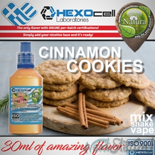 mix shake vape - natura 30/60 ml cinnamon cookies