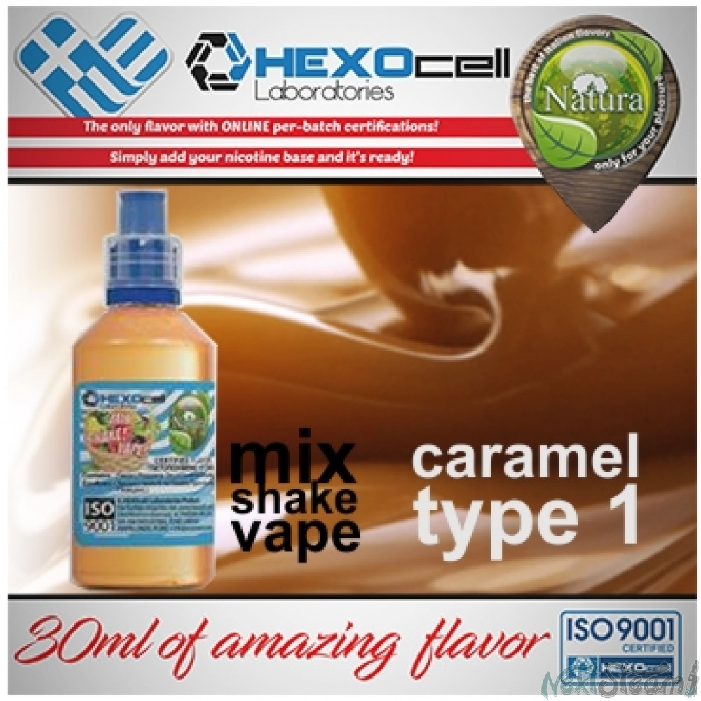 mix shake vape - natura 30/60 ml caramel type #1