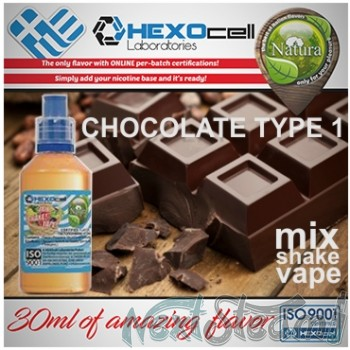 mix shake vape - natura 30/60 ml chocolate type #1