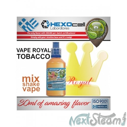 mix shake vape - natura 30/60 ml royal tobacco