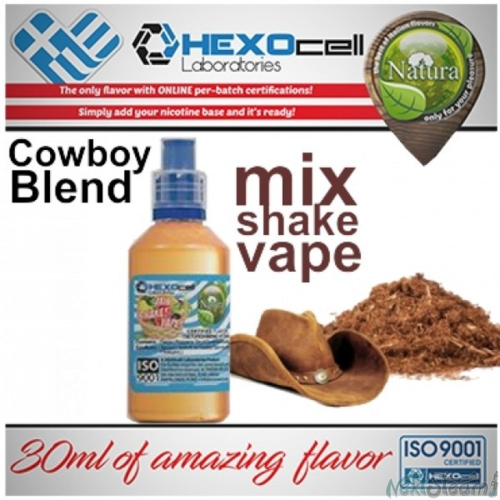 mix shake vape - natura 30/60 ml cowboy blend